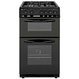 Bush AG56TB 50cm Twin Cavity Gas Cooker - Black