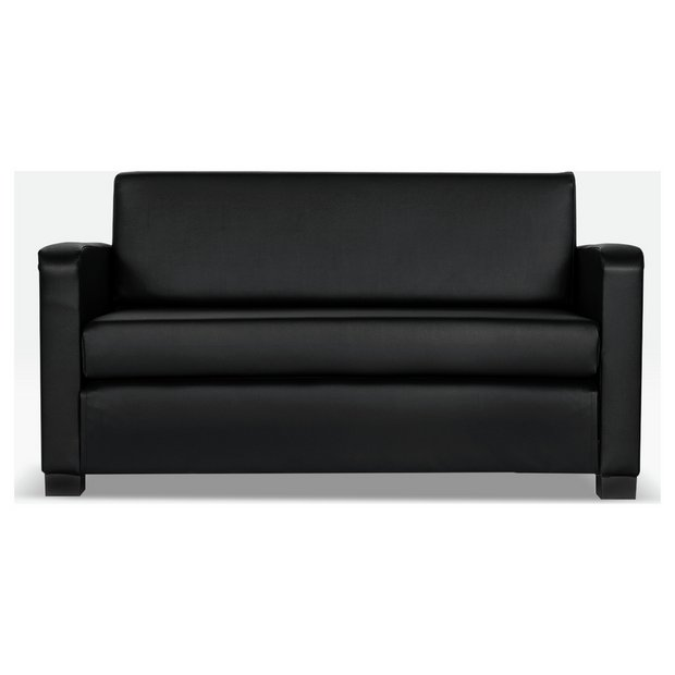 Buy Argos Home Lucy 2 Seater Faux Leather Sofa Bed - Black | Sofa beds |  Argos