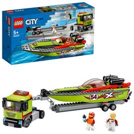 LEGO City Great Vehicles Race Boat Transporter Set - 60254