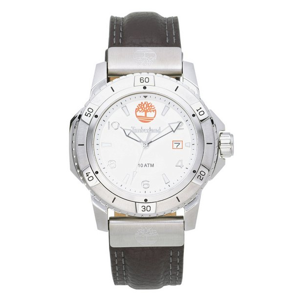 buy timberland men s watches at argos co uk your online shop for more details on timberland men s charlestown silver dial leather strap watch