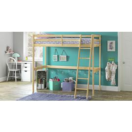 Argos Home Kaycie Pine High Sleeper Bed & Kids Mattress