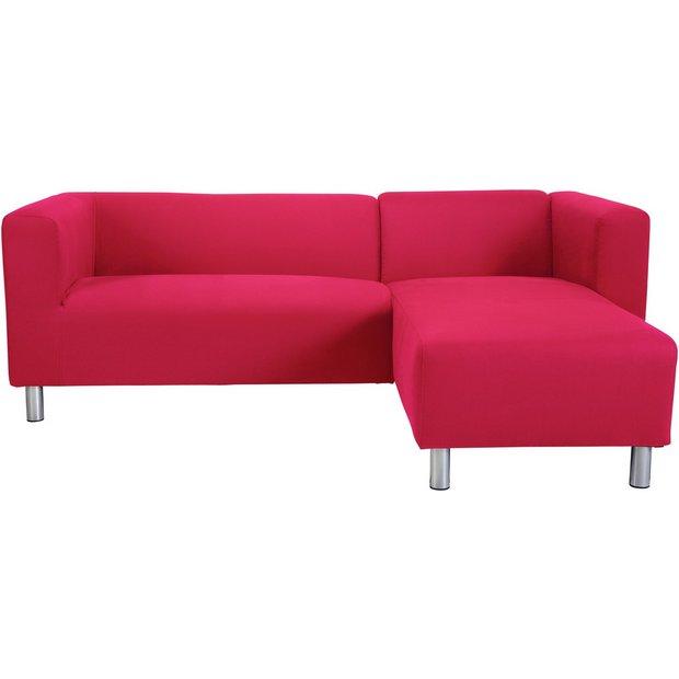 Buy Argos Home Moda Right Corner Fabric Sofa - Red | Sofas | Argos