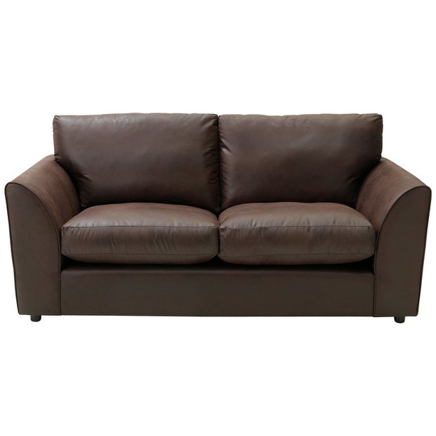 buy home new alfie 3 seater leather effect sofa. Black Bedroom Furniture Sets. Home Design Ideas