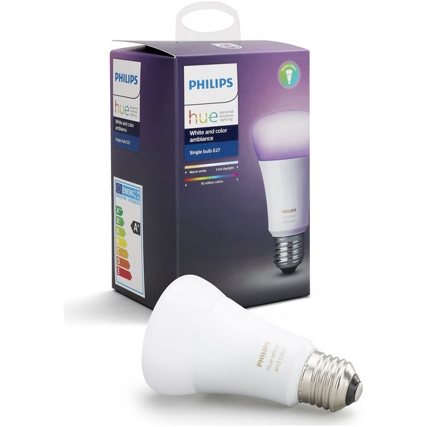 buy philips hue colour ambiance wireless e27 led light bulb at your online shop. Black Bedroom Furniture Sets. Home Design Ideas
