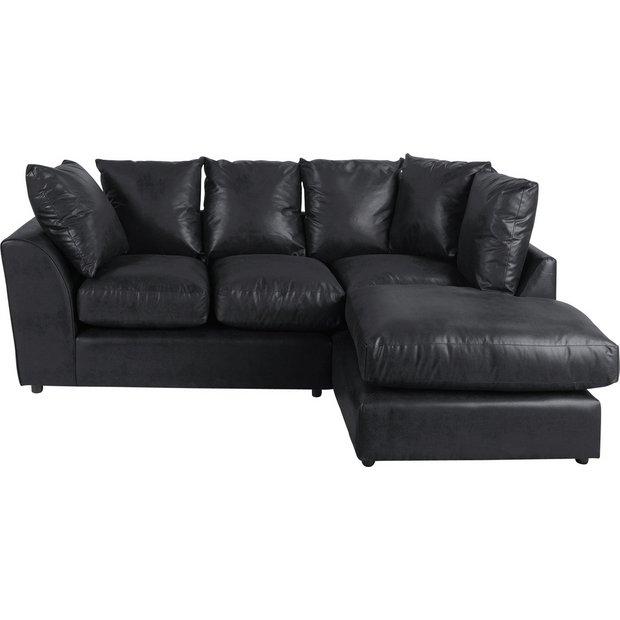 Buy Home New Alfie Leather Eff Right Hand Corner Sofa
