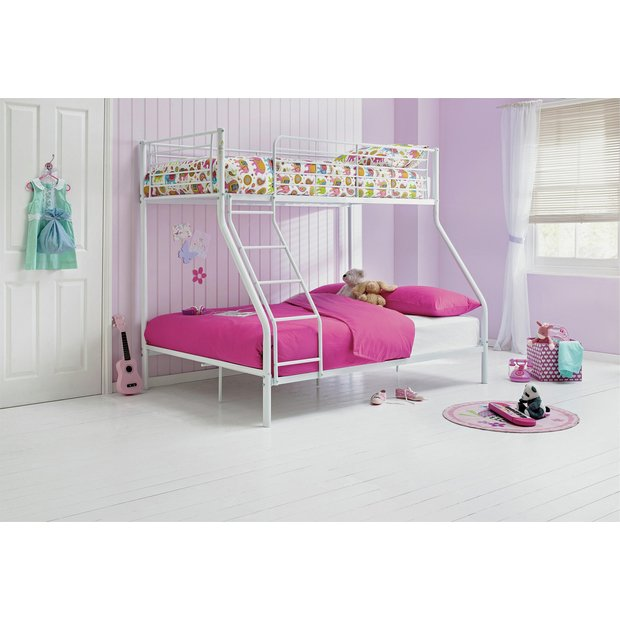 Buy Home Metal Triple Bunk Bed With Ashley Mattress