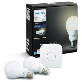 Philips Hue LED White Wireless Lighting E27 Starter Kit