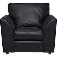 HOME New Alfie Leather Effect Chair - Black