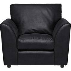 Argos Home New Alfie Leather Effect Chair - Black