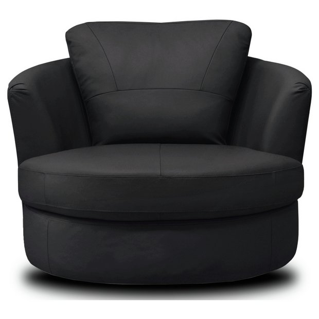 Buy Collection Milano Leather Swivel Chair Black At Your Online Shop For