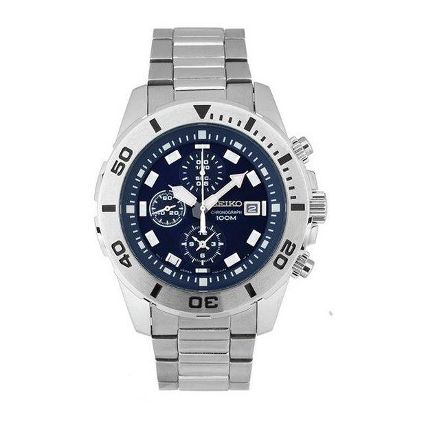 buy seiko men s watches at argos co uk your online shop for more details on seiko men s blue dial chrono bracelet watch