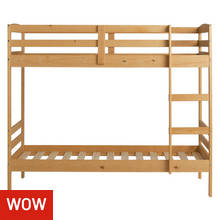 Argos Home Josie Pine Shorty Bunk Bed & Kids Mattress