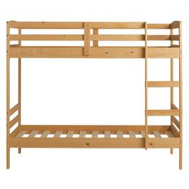 Argos Home Josie Pine Shorty Bunk Bed & 2 Kids Mattresses