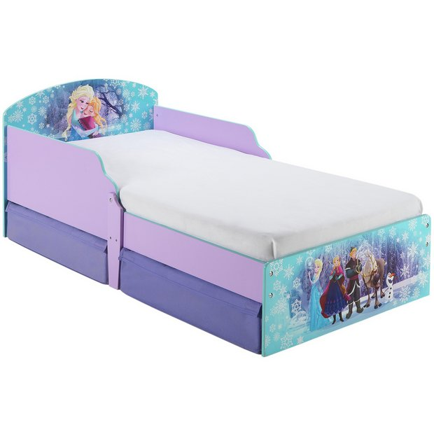 Buy disney frozen toddler bed with drawers multicoloured at your online shop for - Toddler beds with drawers ...