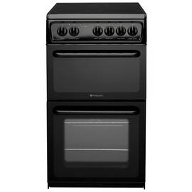 Hotpoint HAE51S 50cm Twin Cavity Electric Cooker - Black