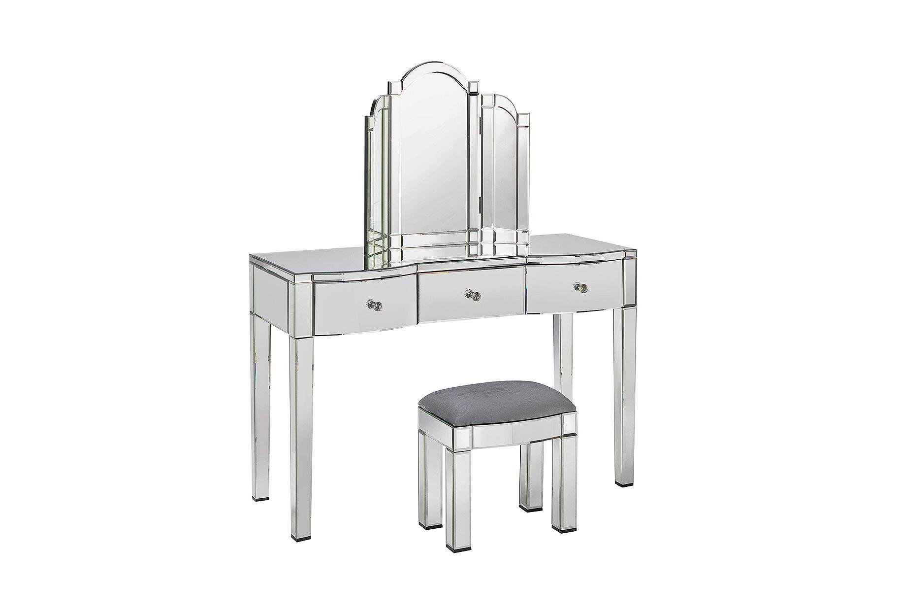Argos Home Canzano 3 Pc Dressing Table Package   Mirrored