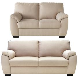 Argos Home Milano Fabric 2 Seater and 3 Seater Sofa - Beige