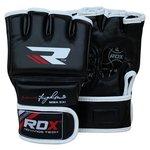 more details on RDX Leather Adult MMA Gloves Medium/Large - Black