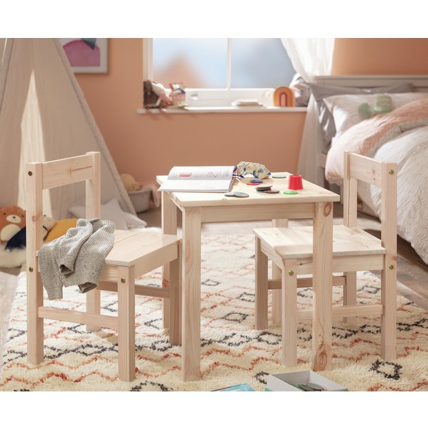Buy Argos Home Kids Scandinavia Table And 2 Chairs Pine