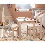 more details on HOME Kids Scandinavia Table and 2 Chairs - Pine.