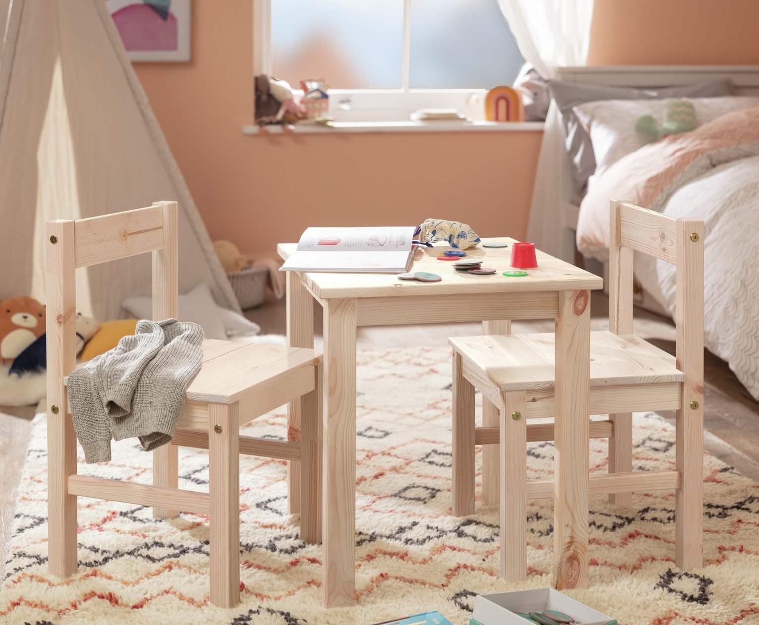 HOME Kids Scandinavia Table and 2 Chairs  sc 1 st  Argos & Children\u0027s tables and chairs | Furniture for kids | Argos