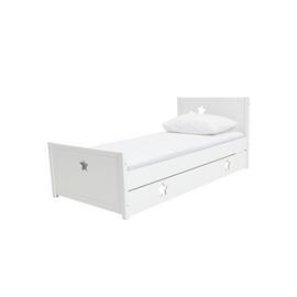 Argos Home Stars White Single Bed & Kids Mattress