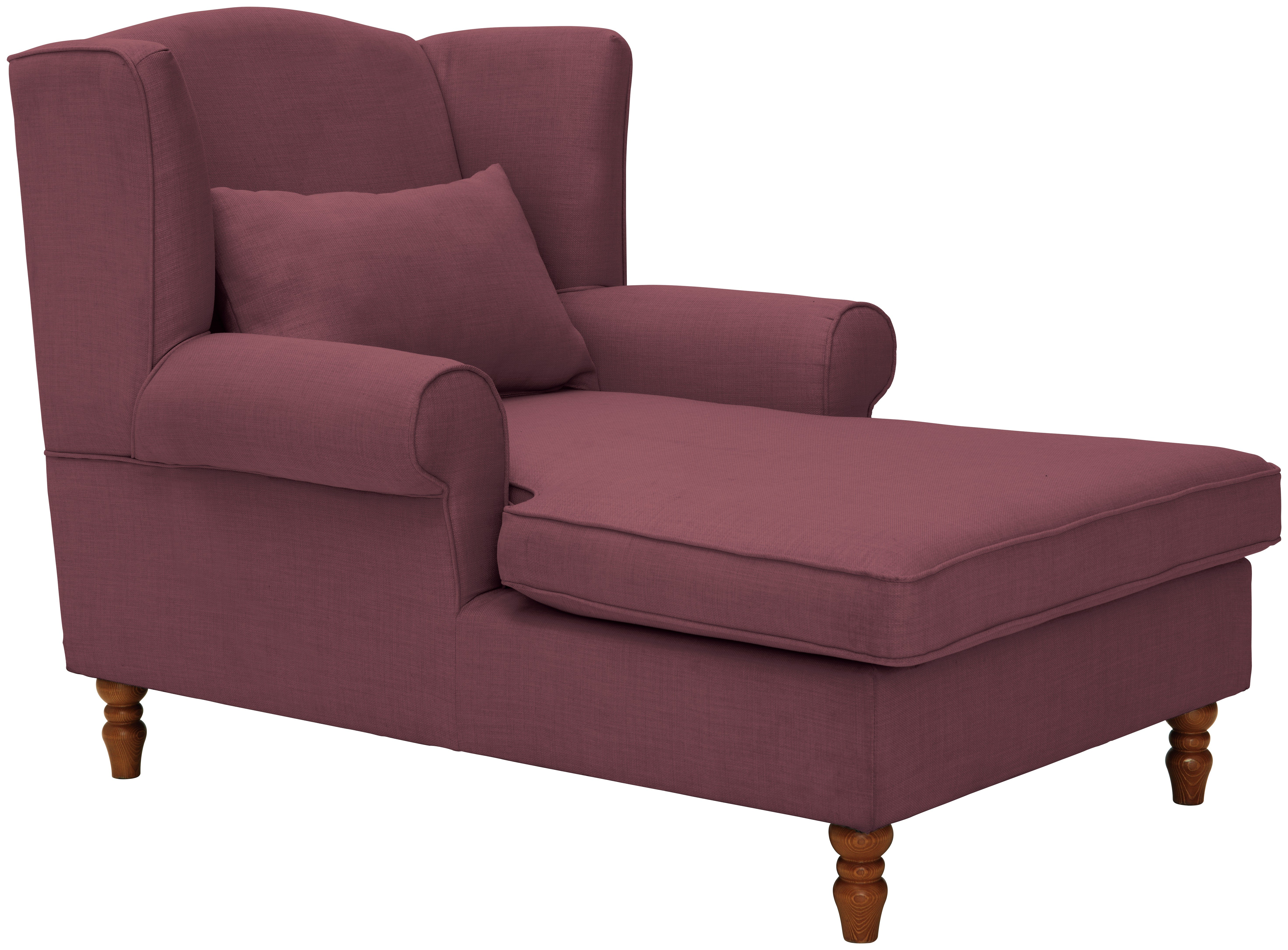 Heart of House Padstow Fabric Chaise Longue - Mulberry  sc 1 st  Argos : argos chaise lounge - Sectionals, Sofas & Couches