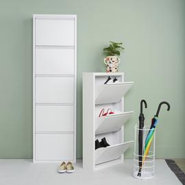 Habitat Daxton 3 Shelf Metal Shoe Storage - White