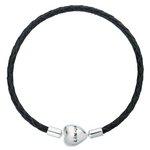 more details on Link Up Black Leather Heart Clasp Bracelet.