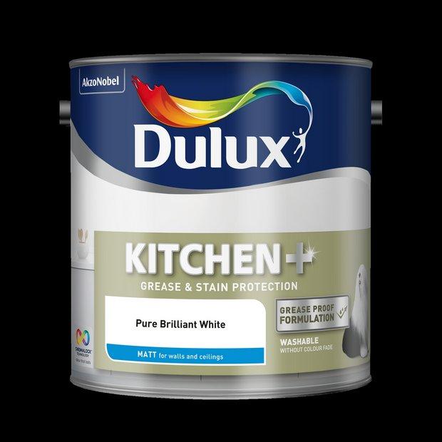 Buy Dulux Kitchen Matt Paint 2 5l White At