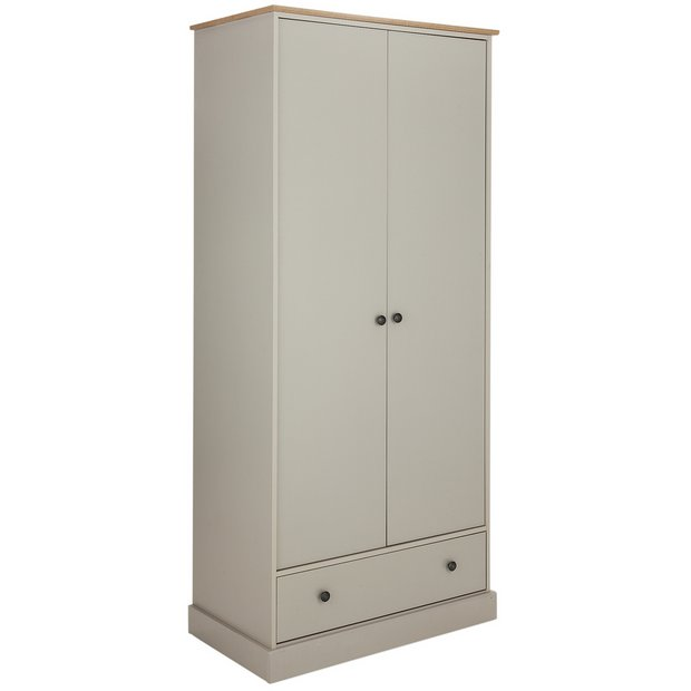 Buy Collection Kensington 2dr 1drw Wardrobe Soft Grey Oak Eff At Your Online