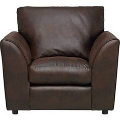 Argos Home New Alfie Leather Effect Chair - Dark Brown