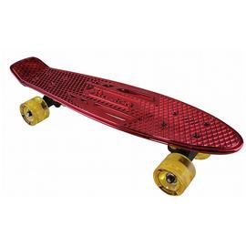 Karnage Retro Skateboard - Chrome and Red