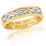 more details on 9ct Gold Plated Sterling Silver Ladies' Commitment Ring - T.