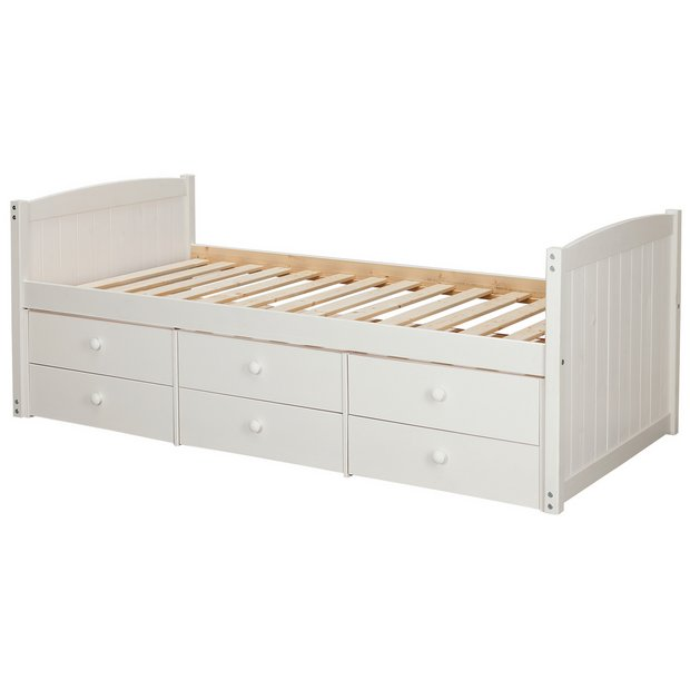 Buy collection lennox 6 drawer cabin bed frame white at your online shop for Buy home furniture online uk