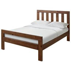 Argos Home Chile Double Bed Frame - Dark Stain