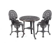 Greenhurst 3 Piece Wenlock Bistro Set - Grey