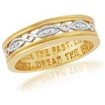 more details on 9ct Gold Plated Sterling Silver Commitment Ring.