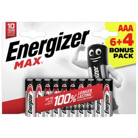 Energizer Max AAA Batteries - 6 + 4 Free