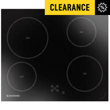 Hoover HVD640C Ceramic Touch Control Hob - Black Glass