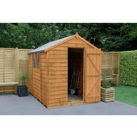 Forest Wooden 8 x 6ft Overlap Apex Shed