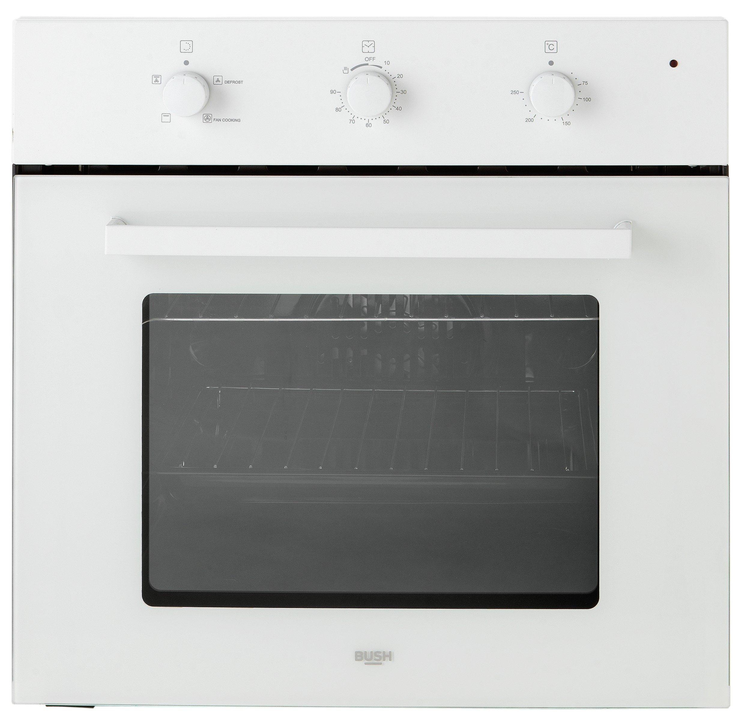 bush bsoef single electric fan oven white