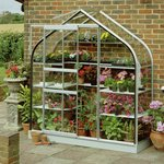 more details on Halls Aluminium Supreme Wall Garden Greenhouse with Base.
