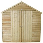 more details on Forest Overlap Apex 7 x 5ft Double Door Shed with Base.