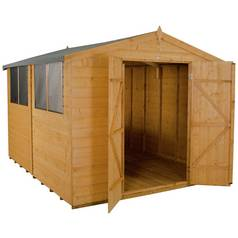 Forest Wooden 10 x 8ft Shiplap Double Door Apex Shed Best Price, Cheapest Prices