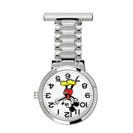 Disney Mickey Mouse FOB Silver Watch