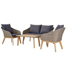 Argos Home 4 Seater Rattan Effect Sofa Set