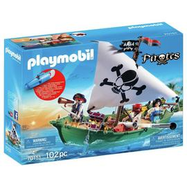 Playmobil 70151 Pirate Ship and Motor Playset