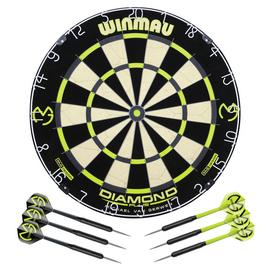 Winmau Michael van Gerwen Diamond Dartboard and Darts Set