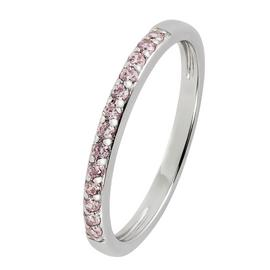 Revere Sterling Silver Pink Cubic Zirconia Stack Ring